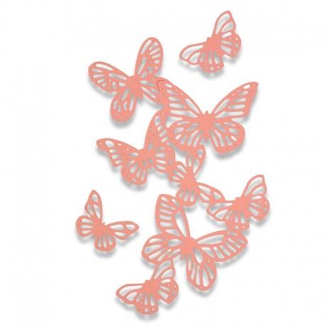 Fustella Sizzix Thinlits - Butterflies