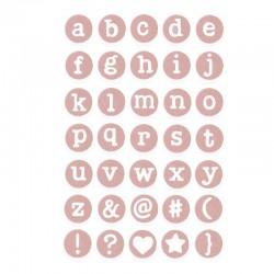 Fustella Sizzix Thinlits - Alfabeto Dainty Lowercase