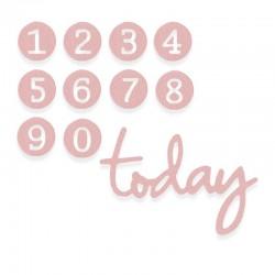 Fustella Sizzix Thinlits - Numeri - Dainty Birthday Numbers