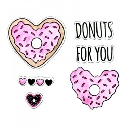 Fustella e Timbro Sizzix - Stamps - Donuts for You