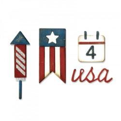 Fustella Sizzix Sidekick Side Tim Holtz - Order Set - Americana