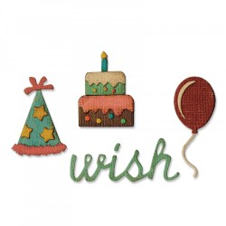 Fustella Sizzix Sidekick Side Tim Holtz - Order Set - Birthday