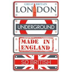 Toga - Targhe in metallo - Destination Londres