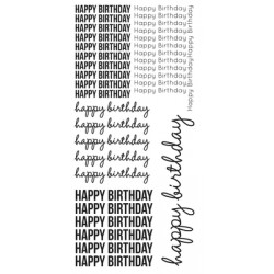 Kaisercraft - Clear Stickers - Happy Birthday
