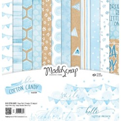 Kit carte ModaScrap - BLUE COTTON CANDY