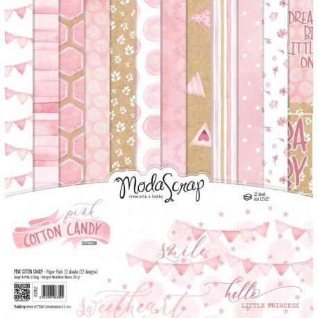 Kit carte ModaScrap - PINK COTTON CANDY