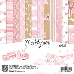 Pad Carte 15x15cm ModaScrap - PINK COTTON CANDY