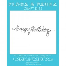 Fustella Flora & Fauna Craft Dies - Happy Birthday