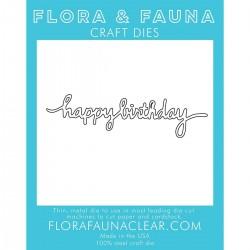 Fustella Flora & Fauna Craft Dies - Happy Birthday