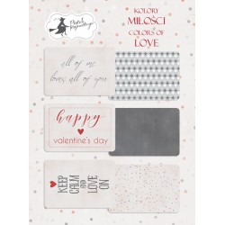 PIATEK13 - Colors of Love - Set of journaling cards 6x4""