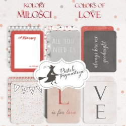 PIATEK13 - Colors of Love - Set of journaling cards 3x4""