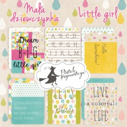 PIATEK13 - Little Girl  - Set of journaling cards 3x4""