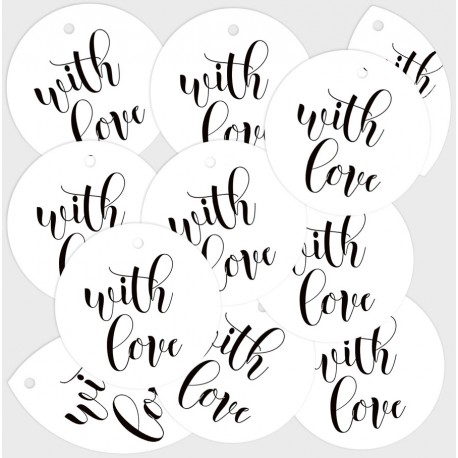 PIATEK13 - With Love - Decoration Tags 01