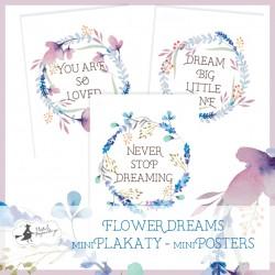PIATEK13 - Flower Dreams - Set of  mini poster 15 x 20cm