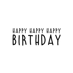 Timbro legno Impronte D'Autore - Happy Happy Happy Birthday