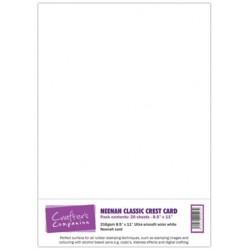 Carta per timbrate - Neenah Classic Crest Card - A4 Bianco