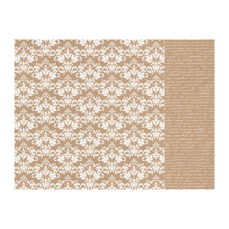 Carta KaiserCraft - Kraft Damask