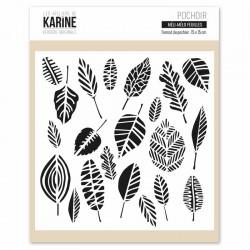 Stencil Les Ateliers de Karine - Méli-mélo feuilles