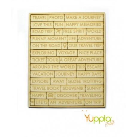 Abbellimenti in cartone vegetale Yuppla - leParoline - Travel