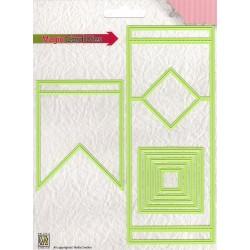 "Fustella Nellie Snellen - Magic Card Die ""square"