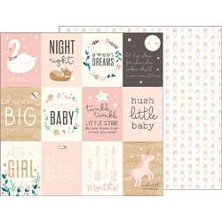Carta Pebbles - Night Night - Sweet Baby Girl Cards