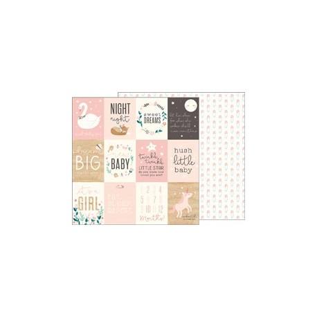 Carta Pebbles - Night Night - Sweet Baby Girl Cards