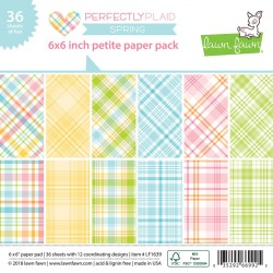 Lawn Fawn - Perfectly Plaid Spring - PAPER PAD 6X6""