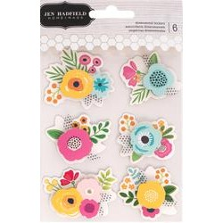 American Crafts - PATIO PARTY DIMENSIONAL STICKERS