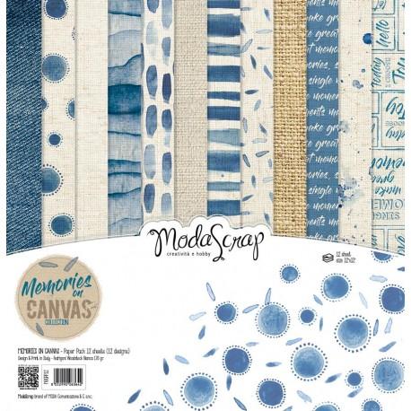 "Kit carte ModaScrap -12""x 12"" MEMORIES ON CANVAS"