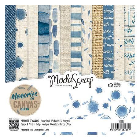 """Pad Carte 6"""" x 6""""  ModaScrap - MEMORIES ON CANVAS"""
