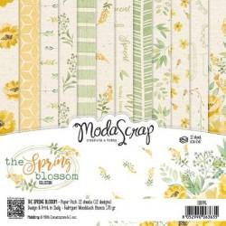"""Pad Carte 6"""" x 6""""  ModaScrap - THE SPRING BLOSSOM"""