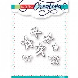 Fustella La Coppia Creativa - Mini stelle moderne
