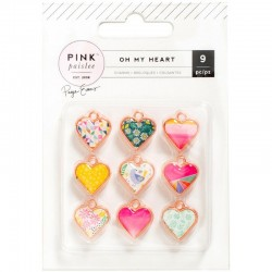 Pink Paislee Oh My Heart – Charms