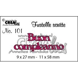 Fustella Crealies - Buon compleanno