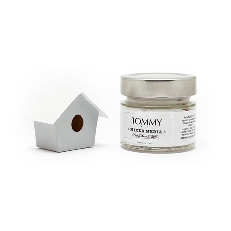 Pasta Stencil Light 80 ml - Tommy Art - Bianco