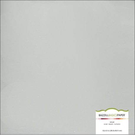 Cartoncino bazzill  Mylar Silver Foil
