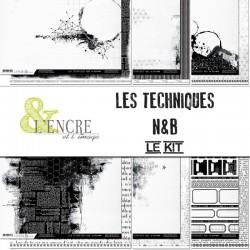 Kit scrapbooking Les techniques N&B - L'encre et l'image