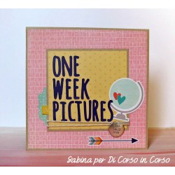 "Kit Progetto Sabina Mini Album ""One week in pictures"""