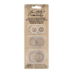Tim Holtz - Idea-ology Collection -  Tag Press RINGS  - misure assortite