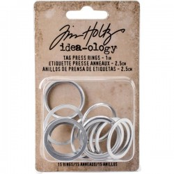Tim Holtz - Idea-ology Collection -  Tag Press RINGS  - misura 1""