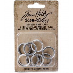 Tim Holtz - Idea-ology Collection -  Tag Press RINGS  - misura 0.75""