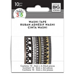 Washi Tape - Me & My Big Ideas - Black and White Skinny