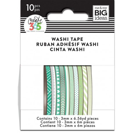 Washi Tape - Me & My Big Ideas - Green Hues Skinny