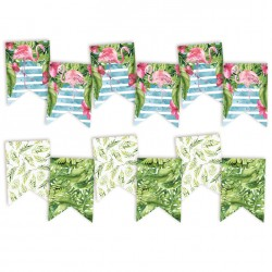 PIATEK13 - Let's flamingle - Paper die cut garland 6 pezzi