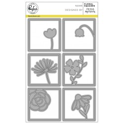 Fustella Pink Fresh Studio - Floral squares