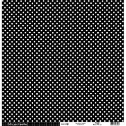 Cartoncino petits pois - Noir