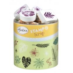 Confezione Mini Timbri Cling Aladine - Jungle