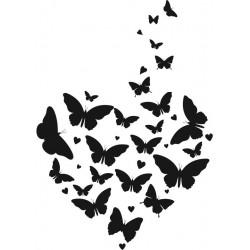 Timbro Legno Aladine - Farfalle