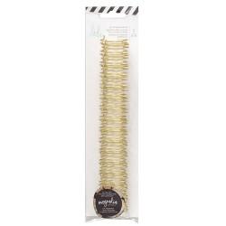 Heidi Swapp - 2 Spirali metalliche oro 3/4 inch