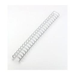 Spirale metallica argento 3/4 inch